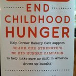 Congratulations to Corner Bakery Cafe for their participation in 'No Kid Hungry Campaign' !