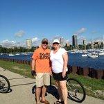 Riding along Lake Michigan in Milwaukee.