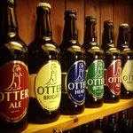 Otter brewery bottles