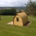 Glamping pods at Newlands