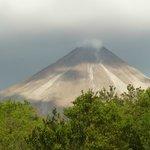 le volcan vu de l'hotel le matin