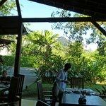le restaurant avec vue sur le volcan