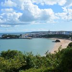 View from hotel grounds to Tenby