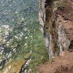 Shoreline along Whitefish Dunes State Park