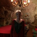 charming hostess Corinne in the troglodyte breakfast room