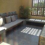 The spacious suite terrace