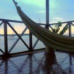 Room balcony with hammock