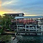 Hotel dock next door to Bocas Inn