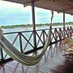 Upper deck with hammocks