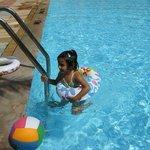 My Daughter is enjoying at pool