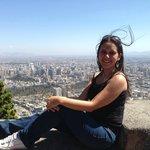 Vista de Santiago desde el cerro San Cristobal