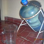Purified water in your room, tips conveniently into a pitcher.