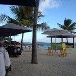 The beach area with bar.