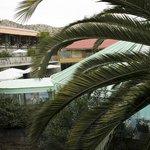 Vista de las piscinas cubiertas