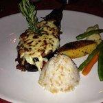 vegetarian meal! Aubergine!!