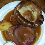 The Dexter Beef and good olde Yorkshire pud at Busby & Wilds