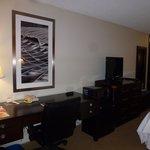 Desk/TV/Mini Fridge/Microwave Area