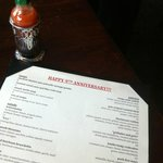 Our anniversary menu