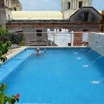 La piscina de la azotea