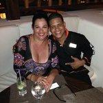 Waiter Sandy with G at Gabi Restaurant