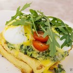 Eggs Florentine - served on French Toast