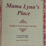Mama Lynn's Menu