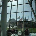 il terminal visto dalla reception