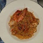Deniz mahsullu spagetti... lezett yumagi...