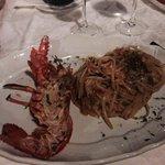 Beautiful lobster spaghetti.