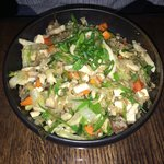 Chicken fried brown rice, YUMMY!