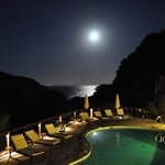 Supermoon over the Cove and pool