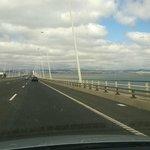 inizio del ponte sulla riva opposta a Lisbona