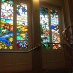 stairwell window