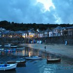 Mousehole Harbour at twilight