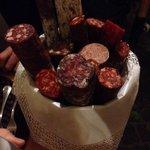 Wow! Salami basket and bruschetta (not pictured)
