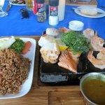 Lava Rok seafood dinner