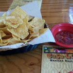 strater chips n salsa...salsa is mild but good.
