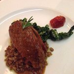 Duck breast with wild rice is my favorite dish.