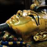 Detail of the innermost (solid gold) coffin of Tutankhamun