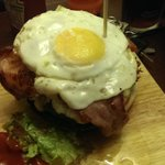 Double Burger with Egg and Bacon