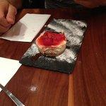 Dolce - Cheesecake con confettura di fragole