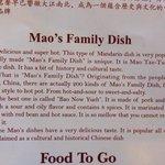 Description of the food