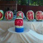 Miam - Lecker die Wassermelonen und hübsch hergeichtet