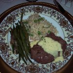 5th course, filet mignon, rice, green beans, Gatsby dinner