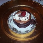 dessert, chocolate mousse in chocolate teacup, Gatsby dinner