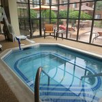 Very limited pool hours.  Inside rooms have a view of a nice inner courtyard.