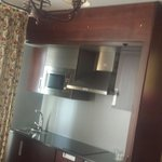 The room also has an kitchen for people who spend morw than an few nights