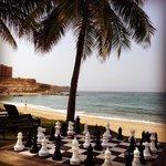 Chess on the beach. Shangri La Muscat