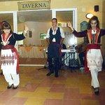 Greek dancers at the hotel taverna