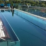 Lovely outdoor pool on the top floor